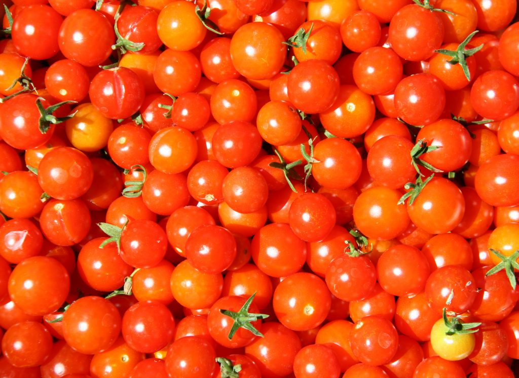 Diced Potatoes with Cherry Tomatoes